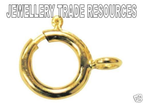 Oro Amarillo 9ct diámetro 6mm Perno Anillo Joyas Broche con Open Jump Ring