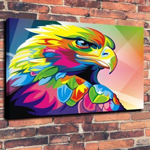 Art Canvas Print Coloful Home Decor Wahyu Romdhoni Parrot  12x16
