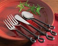 Park Designs Forged Loop 5 Piece Place Setting Flatware Fork Spoon Knife