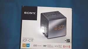 New! Sony ICF-C1T FM//AM Clock Radio-Black Battery Backup Dual Alarm