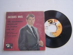 EP-45-T-VINYL-4-TITRES-JACQUES-BREL-LES-BOURGEOIS-VG-VG