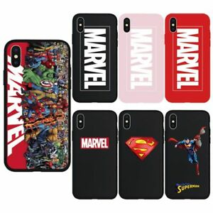 buy online d3217 8fa91 Details about Cool Marvel Silicone Logo Phone Case Boss Cover Skin For  iPhone Xs Max Xr X 8 7