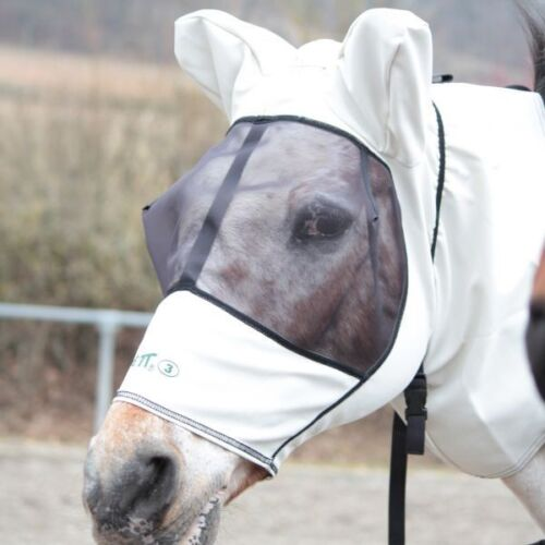 Boett mouches masque Sweet Itch Hood-Grey Taille 140-170
