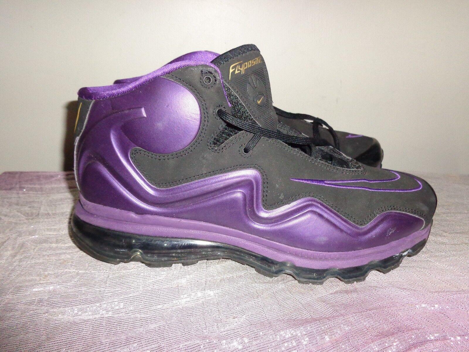 Mens Nike Air Max Max Max Flyposite Purple Black Mens 536850-010 Sz 11 EUC  L@@K  f8e554