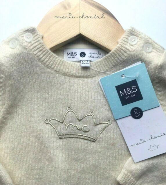 Marie Chantal Blue Stripe Polo Neck Cotton Top Various Sizes NWT