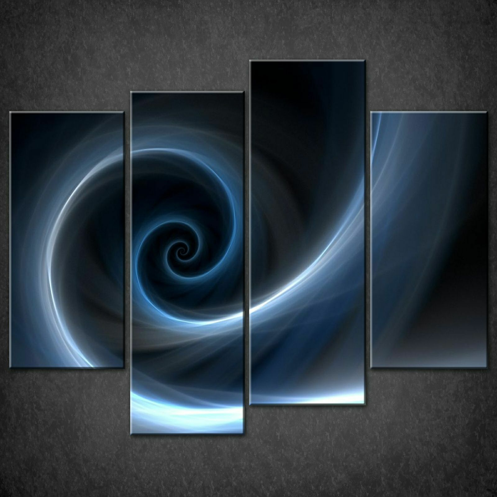 SPIRAL Blau ABSTRACT DESIGN CANVAS PRINT PICTURE WALL ART  FREE DELIVERY