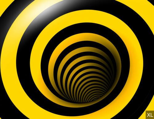 Tapete Fototapeten Fürs Wohnzimmer FDB127 Fototapete Gelb-schwarze Verrücktheit