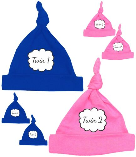 BabyPrem Micro Preemie Baby  Hats for TWINS Neonatal ICN Clothes 0.6-3.4kgs