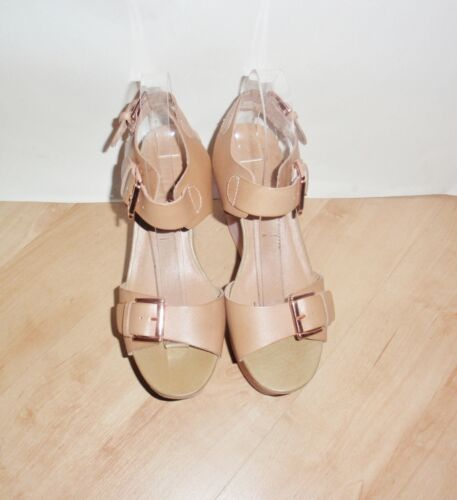 NEW Schuh ladies tan leather wedge heeled summer sandals various sizes