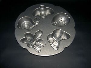 NORDIC WARE GARDEN BUGS BUTTERFLY BEE LADYBUG DRAGONFLY SNAIL MAKES 5 VGC