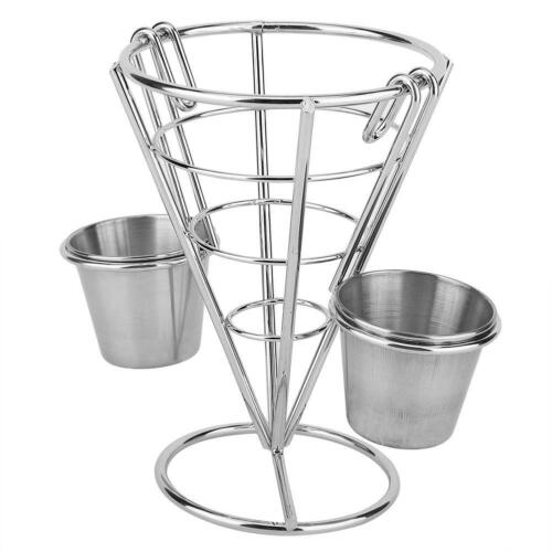 Home Plating French Fries Stand Buffet Cone Snacks Display Stand Fries Baskets