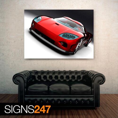 KOENIGSEGG RED CONCEPT CAR 0494 Poster Print Art A0 A1 A2 A3 A4 Car Poster