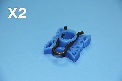 CITROEN C1 PICASSO BLUE WINDOW REGULATOR SLIDING PIVOT RETAINER CLIPS 2PCS