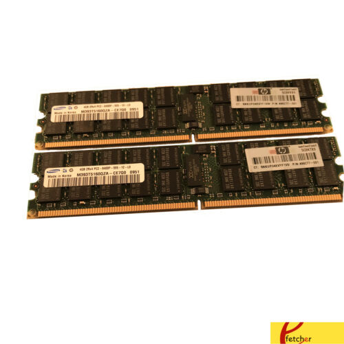 8GB KIT 2 x 4GB Dell PowerEdge 1800 1855 2800 2850 2970 SC1425 Ram Memory