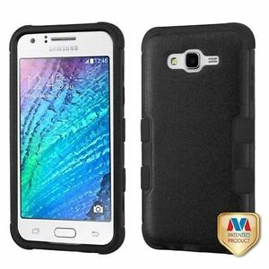 quality design 85439 8dfa7 TUFF Hybrid Case Cover for Samsung Galaxy J7 (2015) - Black