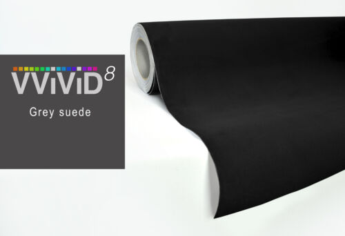 Vvivid 5ft x 4.5ft black suede interior car-wrap vinyl