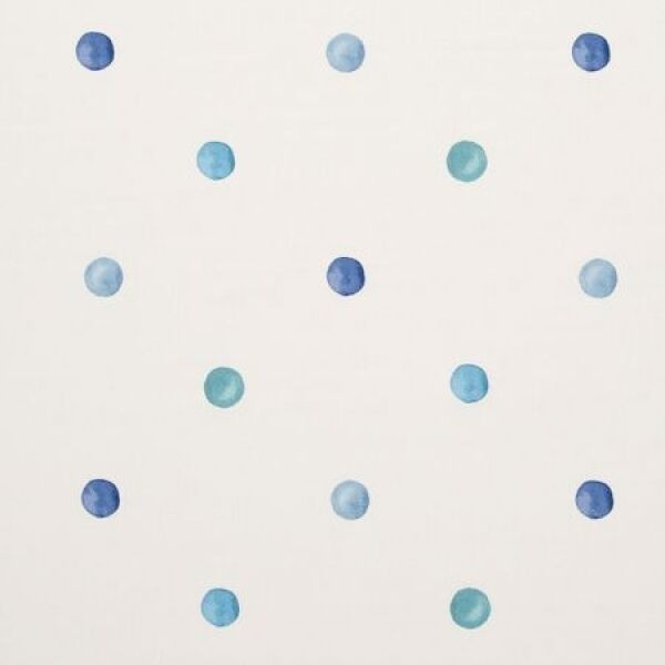 Clarke and Clarke Gala Blue Spot Design Curtain Upholstery Craft Fabric