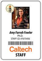 Name Badge Halloween Costume Prop Amy Farrah Fowler Big Bang Theory Pin Back