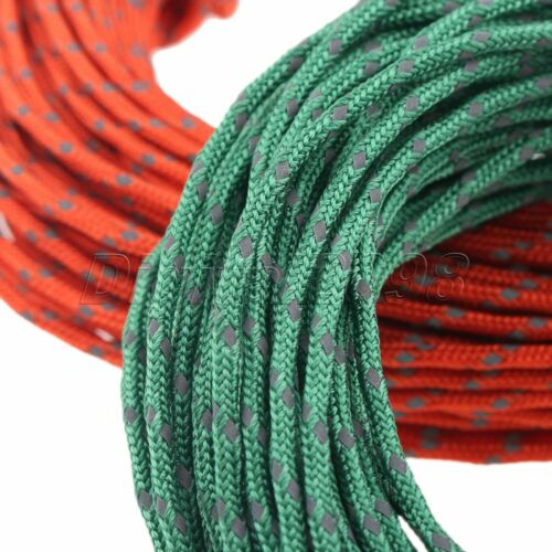 1 Roll Nylon Tent Rope Guy Line Cord Tensioner Outdoor Camping Cable 2.5mm 50FT