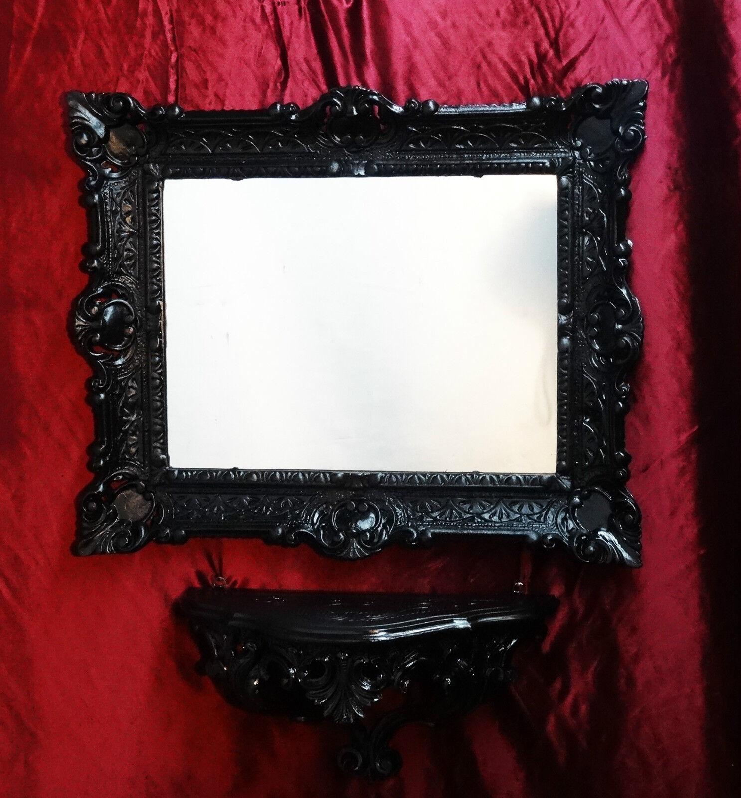 Specchio muro + Console Vassoio da 56x46 ANTICO BAROCCO 811 Mobile ...
