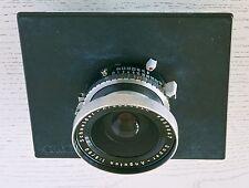 Obbiettivo grande formato Schneider Super Angulon f8-90mm otturatore Compur
