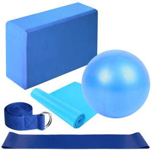 5pcs Yoga Equipment Set Include Yoga Ball Yoga Blocks Stretching Strap