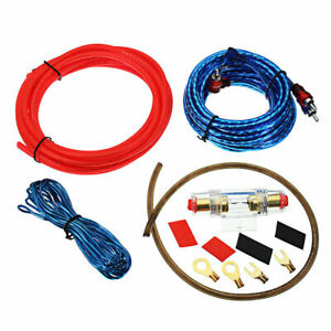 1500W-Max-10AWG-Car-Audio-Speaker-Amplifier-Wire-Wiring-Cable-Lead-Kit-Set