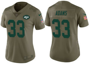 wholesale dealer 9f330 6be82 Details about NIKE NFL NEW YORK JETS #33 JAMAL ADAMS SALUTE TO SERVICE  JERSEY WOMEN'S SIZE XXL