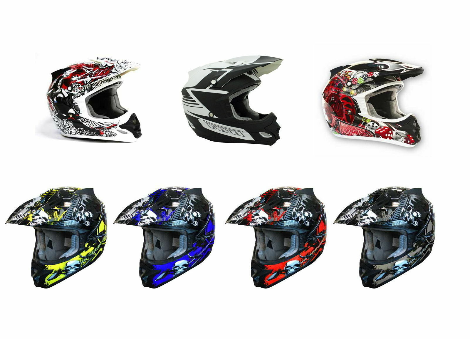 Thh Tx-23 Motor Bike Moto Cross Helmet Assorted Adult Sizes