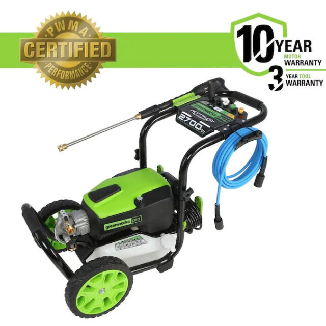 Greenworks Pro 2700-PSI 2.3-GPM Cold Water Electric Pressure Washer