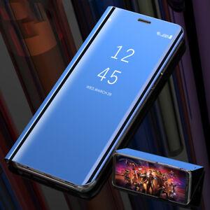 l'ultimo d4463 1e04d Dettagli su Per Huawei P20 Mate 20 Pro Lite Cuoio di FLIP MIRROR COVER View  SMART CUSTODIA