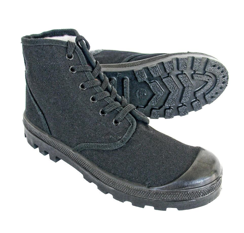 Original israelí Commando Palladium Canvas botas en todos los tamaños de Color Negro-Scout
