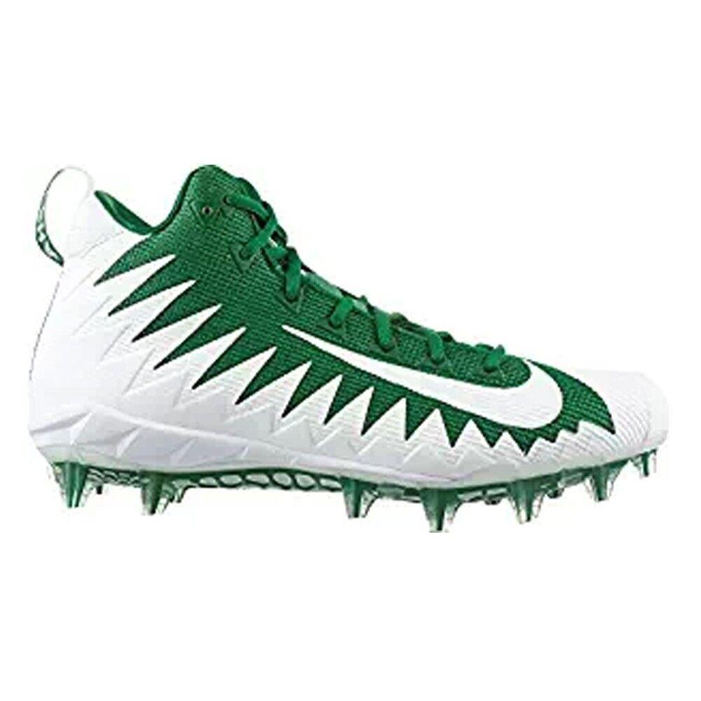 NIKE ALPHA MENACE PRO MID Mens Pine Green White FOOTBALL Cleats