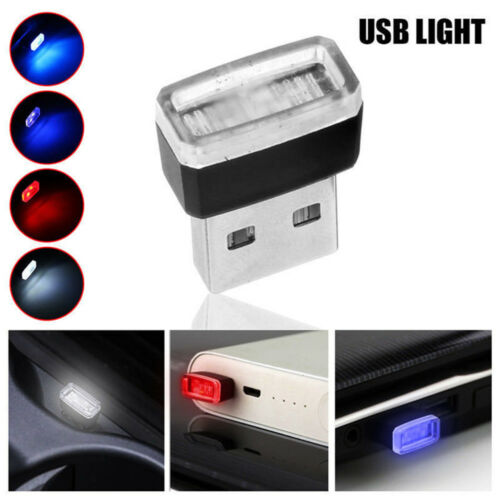 Universal USB LED Mini Wireless Car Interior Lighting Atmosphere Light Accessory