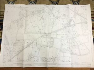 Antique-Map-Farnham-Surrey-Hampshire-Kingston-Poyle-House-Park-1934