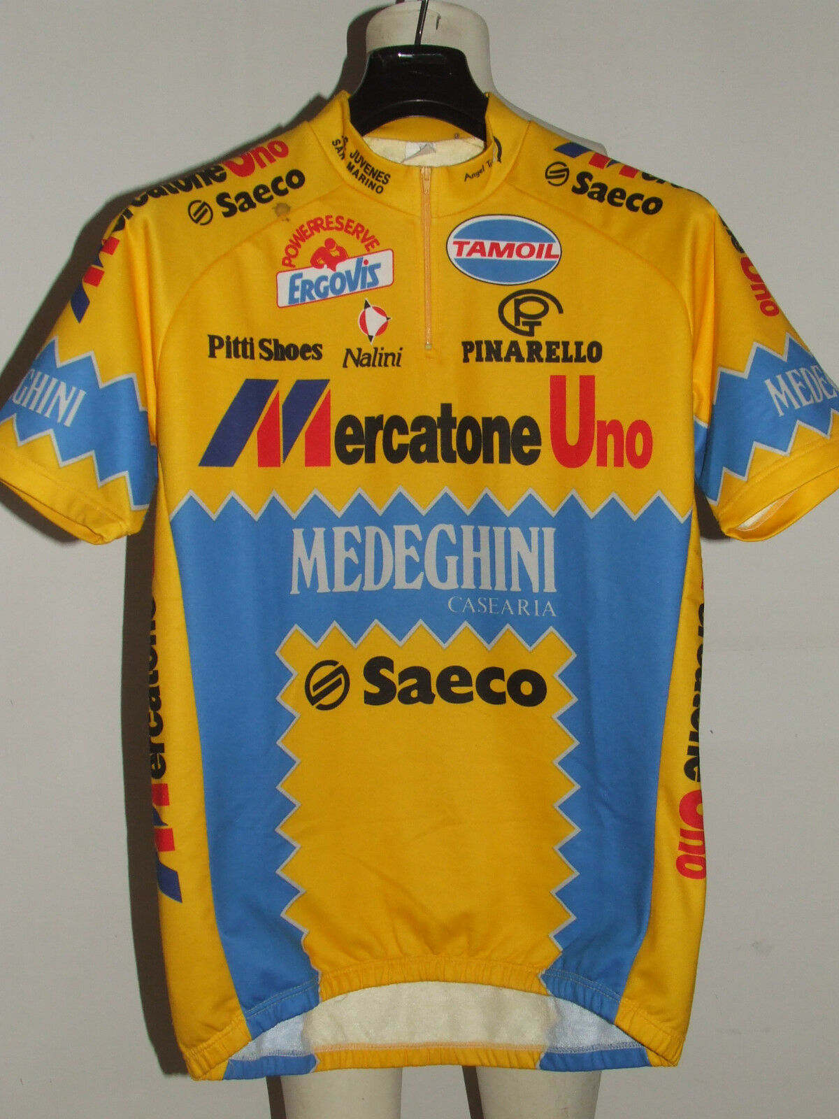 MAGLIA  BICI CICLISMO SHIRT MAILLOT CYCLISM TEAM MERCATONE UNO SAECO  tg. XXL  exciting promotions