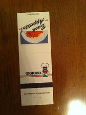 GIORGIO Buon Appetito Restaurant La Cie Eddy Match Pembroke Ontario Matchbook