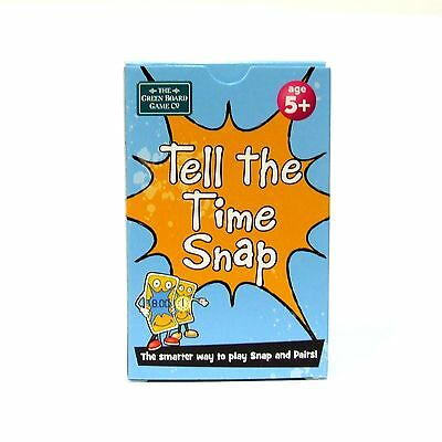 Tell the Time Snap and Pairs Cards Memory Game Early Learning Clock Brainbox 5+