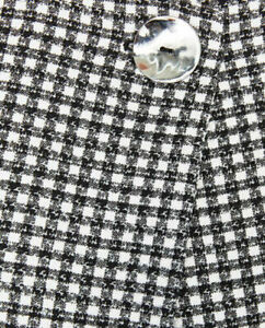 BNWOT-ZARA-Blogger-Black-White-Gingham-Check-Jacket-with-Frill-Bell-Sleeves-M