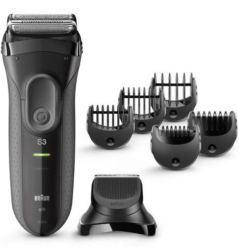 3000BT Kabelloser Akkurasierer wasserdicht 2 Akku Braun Series 3 Shave/&Style