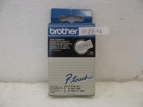 Brother P-touch Schriftbandkassette Tape Cassette TC-M93