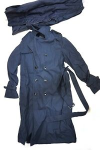 All Weather Double Breasted Navy Blue 42xl Removable Liner