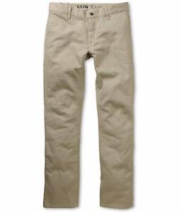 Krew-Kr3w-Skateboarding-Pants-Pant-Hose-Jeans-K-Slim-Chino-Dark-Khaki-in-31