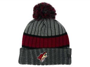 3dc751b9dac Phoenix Arizona Coyotes New Era Striped NHL Team Logo Pom Knit ...