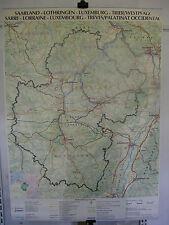 Schulwandkarte Wandkarte Pfalz Lothringen Saarland Luxemburg 110x153 Trier map
