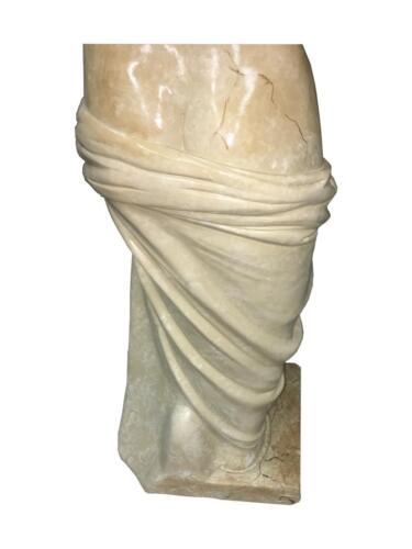 Antike Griechische Göttin Figur ohne Arme Marmor Optik Venus von Milano H:124cm
