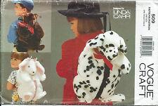 "Vogue 9112 sewing pattern 17"" BEAR DOG BUNNY Back Pack BACKPACK sew FAKE FUR FUN"