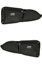 PRP Seats Polaris RZR XP 1000 Door Bag with Knee Pad PR-Set of 2 BLACK Piping