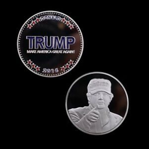 Silver-Plated-Metal-Coin-American-Souvenir-Coins-Trump-Coins-Worth-Collection