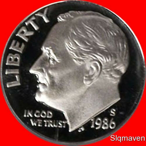 1986-S   PROOF DIME